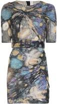 Peter Pilotto Fireworks print ruched mini dress