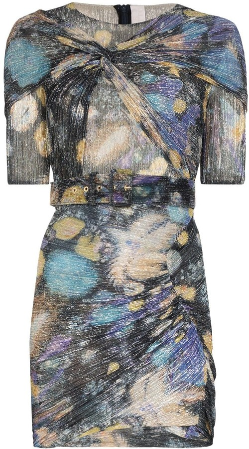 Peter Pilotto Fireworks print ruched mini dress