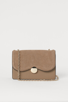 H&M Suede-detail Shoulder Bag
