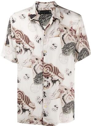 AllSaints Abstract-Print Short Sleeve Shirt