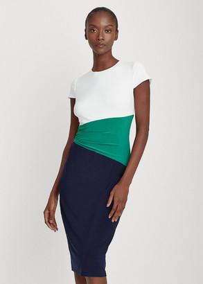 Ralph Lauren Color-Blocked Jersey Dress