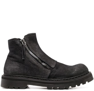 Premiata Chunky Zip-Up Leather Boots