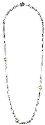 David Yurman Two Tone Cushion Cable Link Necklace