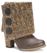 Muk Luks Women's Chris Sweater with Button Ankle Boots