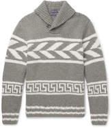 Ralph Lauren Purple Label - Shawl-Collar Intarsia Cashmere Sweater