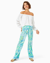 Lilly Pulitzer 33″ Bal Harbour Mid Rise Palazzo Pant
