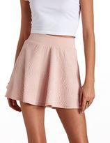 Swirly Textured Skater Skirt