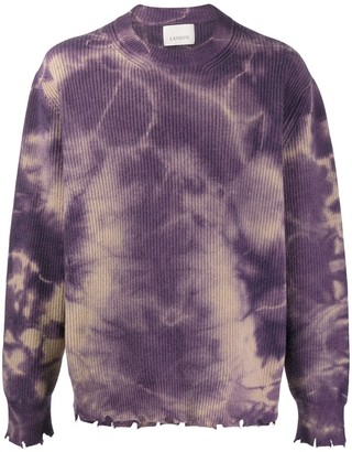 Laneus faded distressed jumper