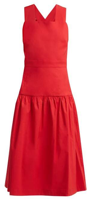 Sea Cecily Cross Back Dress - Womens - Red