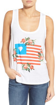 Wildfox Couture &Granny&s Flag Roadtrip& Graphic Tank