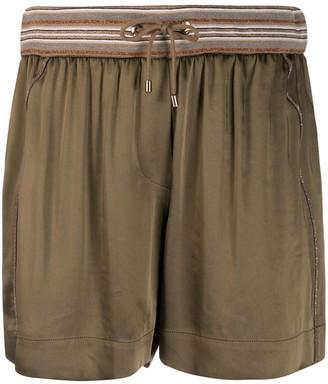 Brunello Cucinelli Pleated Short Shorts