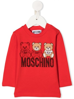 MOSCHINO BAMBINO Logo Long-Sleeve Top