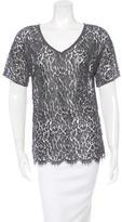 Dolce & Gabbana Lace Short Sleeve Top