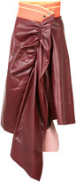 Martina Spetlova draped skirt - women - Lamb Skin - 6
