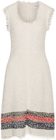 Sonia Rykiel Striped cotton-blend bouclé dress