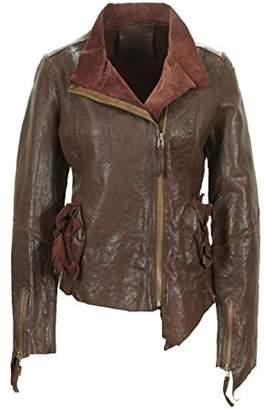 Freaky Nation Women's 316002 Leather Long Sleeve Jacket - Red - UK