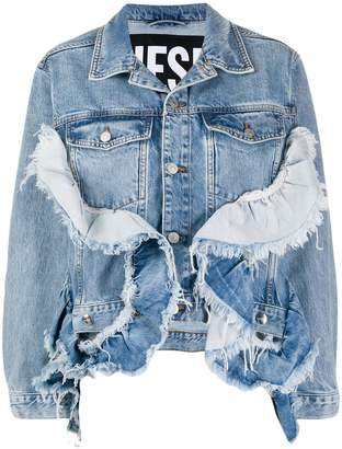 Diesel De-Abby ruffled denim jacket