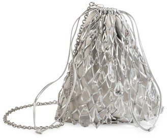 Prada Small Stone-Embellished Net Bag