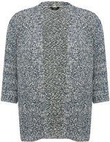 M&Co Plus textured knit cardigan