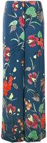 Diane von Furstenberg floral print palazzo pants - women - Silk/Polyester/Spandex/Elastane/Viscose - 4