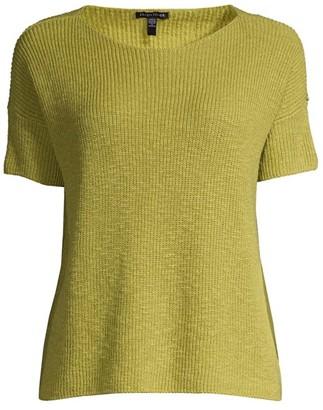Eileen Fisher Knit Jewel-Neck Top