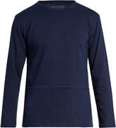 Blue Blue Japan Exposed-seam cotton-jersey top