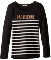 Junior Gaultier Long Sleeves Tee Shirt Parisienne Girl's T Shirt