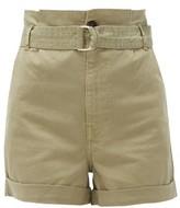 Frame Safari Cotton-blend Twill Cargo Shorts - Womens - Khaki