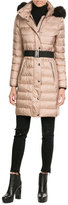 Burberry Quilted Down Coat with Fox Fur Collar
