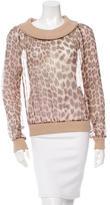 Blumarine Silk Leopard Top
