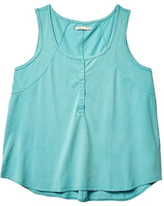 Prana Plus Size Thistle Tank Top (Azurite) Women's Clothing