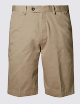 M&s Collection Pure Cotton Shorts With Buttonsafetm