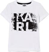 Karl Lagerfeld White Branded Tee