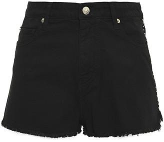 IRO Frayed Studded Denim Shorts