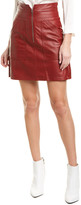 Rebecca Taylor Mini Leather Skirt