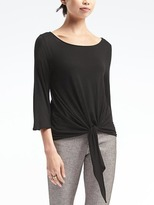 Banana Republic Fluted-Sleeve Waist-Tie Top