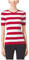 Michael Kors Striped Cashmere Crewneck