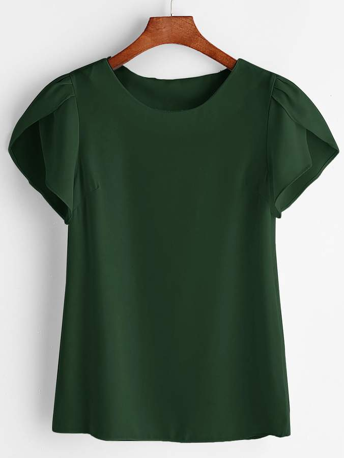 b7d8c702ca Green Chiffon Blouse - ShopStyle
