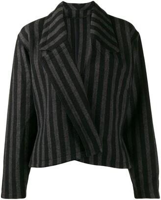 Versace Pre-Owned 1980's Striped Slim Jacket
