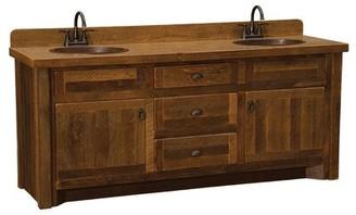 "Derecho 72"" Bathroom Vanity Base Only Union Rustic Orientation: Center, Top: Laminate Top, Leg Style: Barnwood Legs"