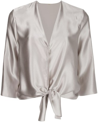 Peter Cohen Silk Knot Detail Blouse