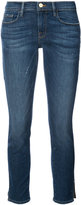 Frame cropped jeans with slits