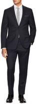 Ike Behar Wool Checkered Notch Lapel Suit