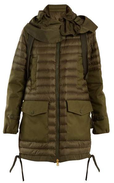 Moncler Cyanite Quilted Down Jacket - Womens - Khaki
