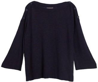 Michael Stars Colette Button Trim Sweater