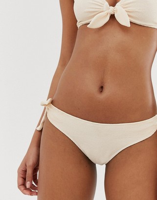 And other stories & bubbly tie bikini briefs in pastel pink