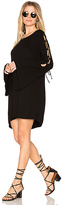Michael Lauren Morrison Lace Up Dress in Black. - size M (also in S,XS)