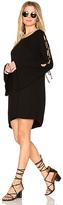 Michael Lauren Morrison Lace Up Dress in Black. - size S (also in XS)