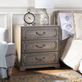 Darby Home Co Kanagy 3 Drawer Nightstand Color: Weathered Oak