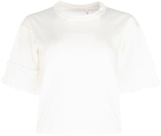 See by Chloe Ruffle Cuffed T-Shirt